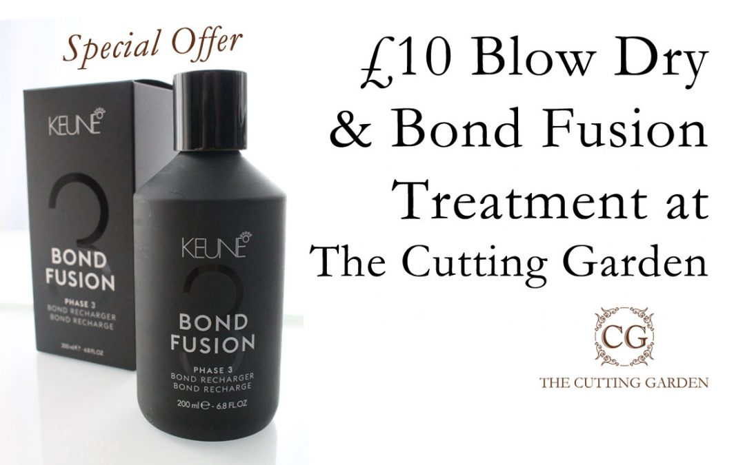 £10 Blow Dry & Bond Fusion Treatment at The Cutting Garden