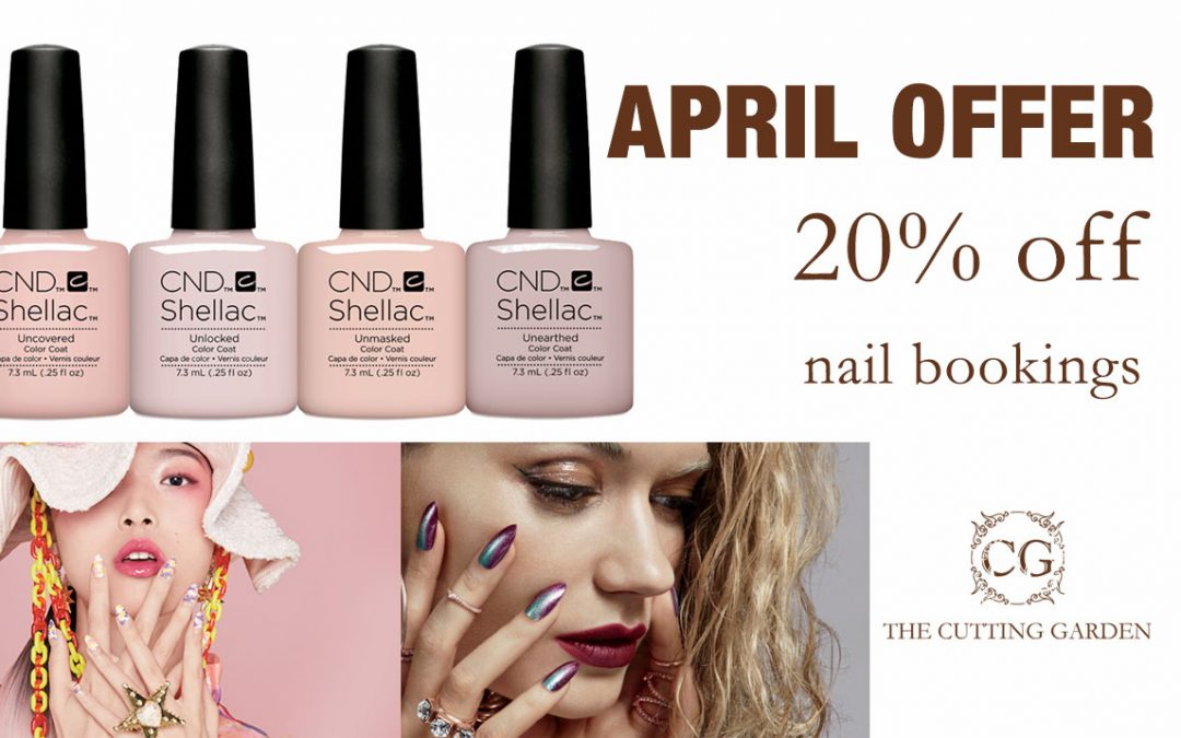 20% OFF Nail Bar bookings during April