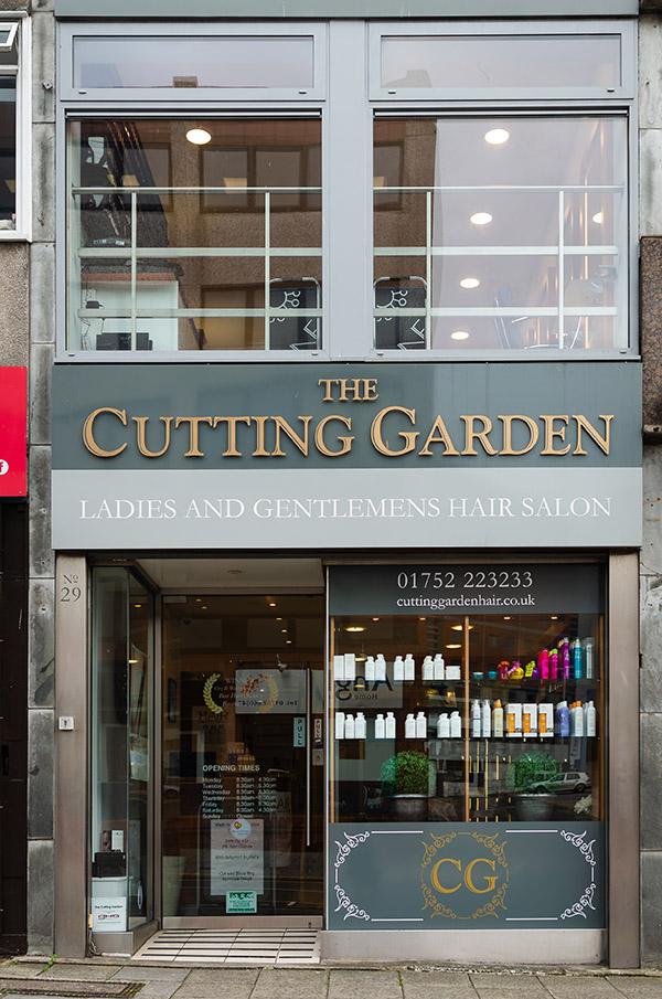 Shop front of The Cutting Garden circa 2019